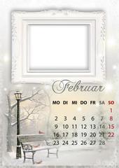 Kalender 2015 deutsch alle bundesländer FEBRUAR