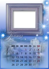 Kalender 2015 deutsch alle bundesländer JANUAR
