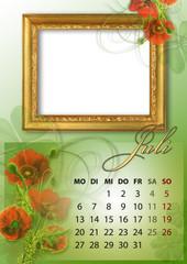 Kalender 2015 deutsch alle bundesländer JULI
