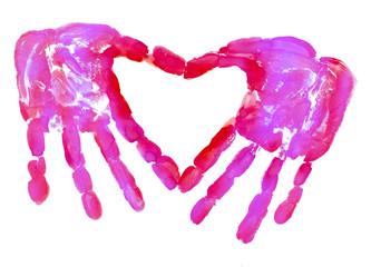 HandPrint love heart