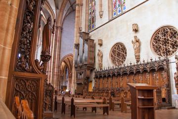 Autel de la collégiale Saint Martin à Colmar, Haut Rhin, Alsace