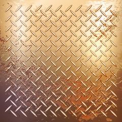 Golden rusty metal background, pattern texture