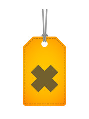 label icon with an irritating substance sign