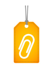 label icon with a clip