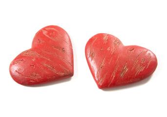 couple de coeurs rouge