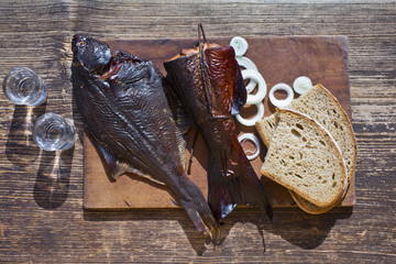 smoked fish salmon and flounder delicious and gourmet food