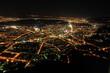 canvas print picture - Luftaufnahmen bei Nacht