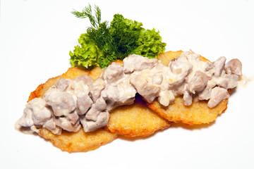 main dish, appetizer, potato pancakes