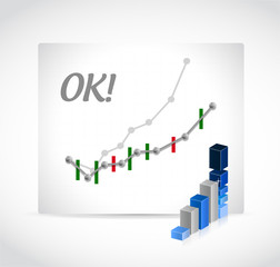 ok profits graph illustration design