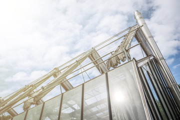 greenhouse in a sunny day