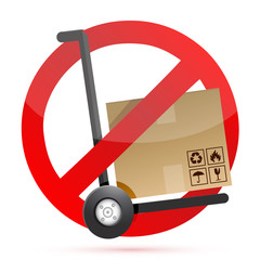 no hand trucks allowed illustration