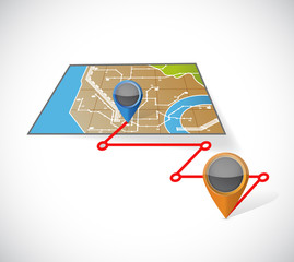 gps map and locations illustration design