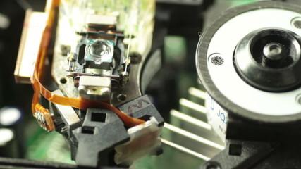 DVD lens closeup