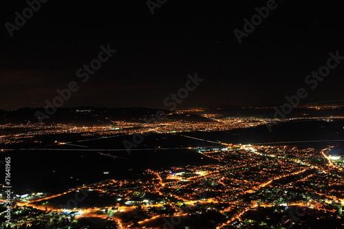 canvas print picture Luftaufnahmen bei Nacht