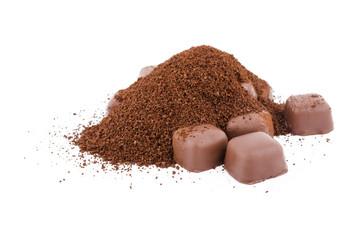 Шоколад на белом фоне