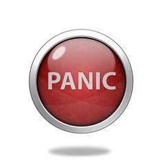 panic circular icon on white background