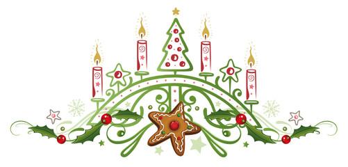 Kerzen, Weihnachten, Stechpalme
