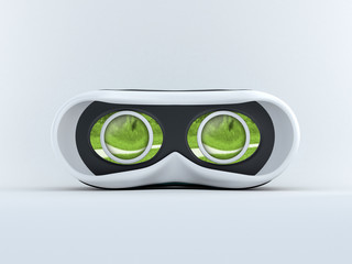 Glasses for virtual reality in 3D
