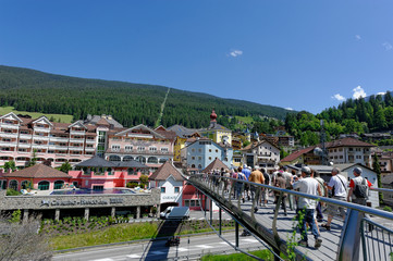 Touristes à Val Gardena