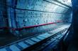 Leinwanddruck Bild Subway Tunnel