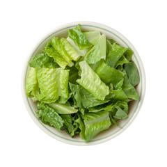 Romaine Lettuce Bowl isolated