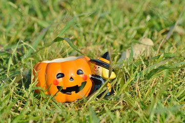 Pumpkin mug for Halloween