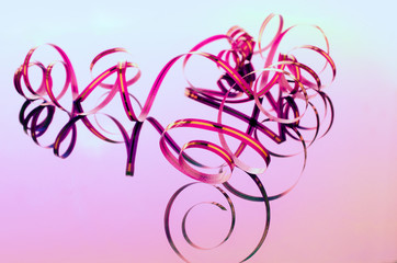 narrow pink ribbon for decoration