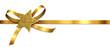 Goldene Schleife mit Glitter-Stern - 71645196