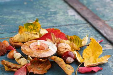 Natürliche Herbstdekoration