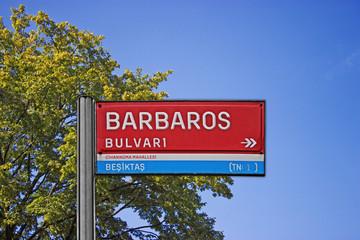 Levha, Barbaros Bulvarı