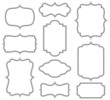 Set of simple decorative frames - 71645953