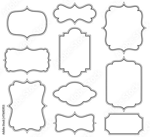 Set of simple decorative frames poster