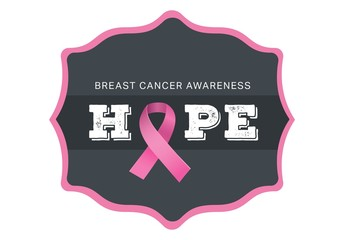 Breast cancer awareness message