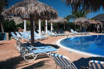 Chairs and Pool on a Cuba Resort