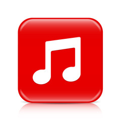 Red music button, icon