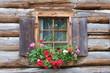 Leinwandbild Motiv Fenster eines Bauernhofs im Lechtal