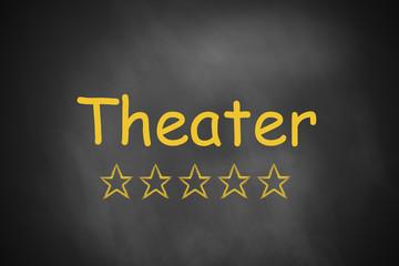 black chalkboard theater