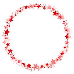 Frame Red Christmas Stars