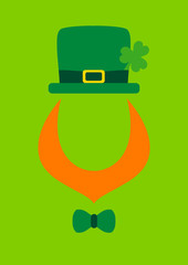 St. Patrick´s Day Abstract Leprechaun