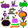 Halloween funny design elements