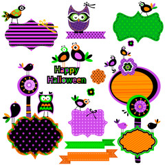 Halloween funny design elements