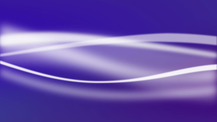 Abstract white waves in motion on purple background