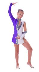 girl gymnast standing