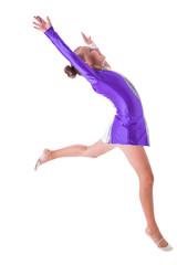 gymnast standing on one leg