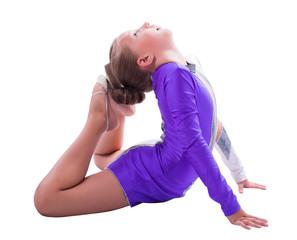 girl gymnast doing exercise