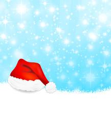 Weihnachten Mütze Schnee