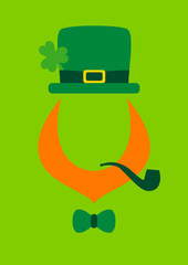 St. Patrick´s Day Abstract Leprechaun Pipe