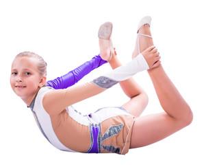 gymnast doing exercise