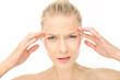 canvas print picture - Frau mit starker Migräne