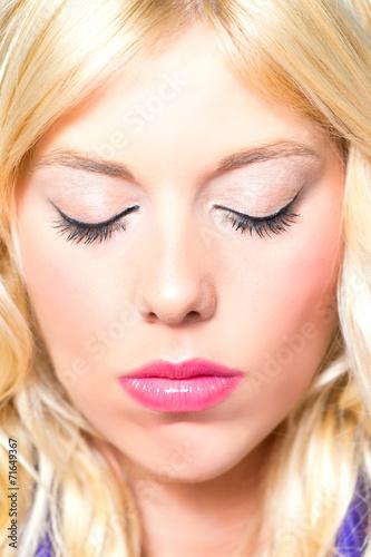 canvas print picture blonde Schönheit